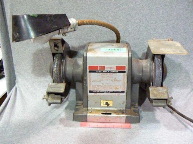 Vintage Craftsman 6 Quot 1 3 Hp Bench Grinder Model 397 19390