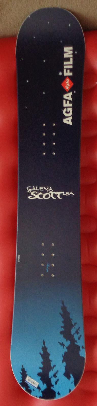 NEW AGFA FILM GALENA SCOTT USA 155 CM Snowboard FREE S&H Lower 48