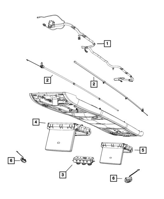 Genuine Mopar Overhead Console Wiring 4868876ae