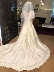 Beautiful Continental Couture DESIGNER Wedding Dress Gown Size 68