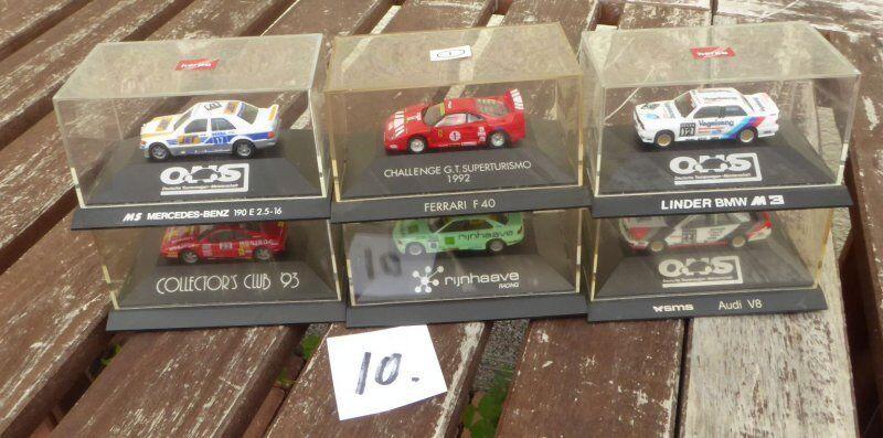 Herpa Conjunto 1:87 H0, 6 piezas pkw-dtm Coche De Carreras BMW, FERRARI,