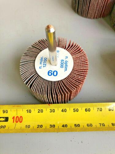 60 x 30mm X 6mm shank 60G AlO F 6030// 6A 60 5 X PFERD Fan Grinder Flap Wheels