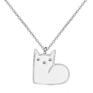 New-925-Sterling-Silver-Cat-Pendant-Chain-Necklace-Womens-Ladies-Jewellery-Gift