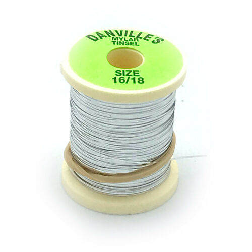 DANVILLE MYLAR TINSEL Fly Tying Gold /& Silver Flat Double-Sided Material Spool