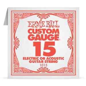 ERNIE-BALL-Corde-a-l-039-Unite-Electrique-ou-acoustique-Custom-Gauge-1015-15