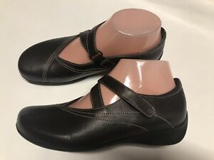 Wolky Mary Janes Brown Leather Women