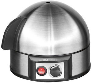 Clatronic-Egg-Cooker-400w-Stainless-Steel-7-Egg-Inox-Acoustic-signal