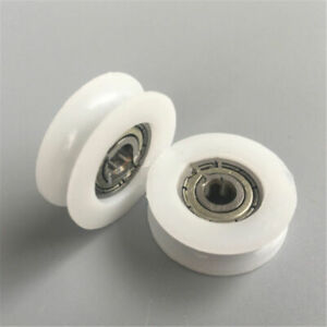 Details about U V Groove Metal Shield Nylon Pulley Wheels Roller Rail Ball  Bearings 8~21mm