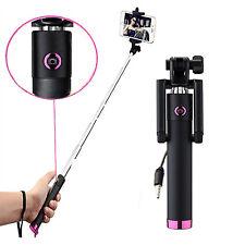 HTC Desire 626G+ / HTC 10 - Selfie Stange Stick integriertem - Selfiestick Pink