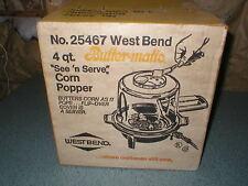 Vintage West Bend New In Box 4 Quart Pop Corn Popper #25467 Buttermatic