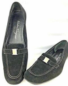 Boutique zwart Loafers suède stoffen Ferragamo Salvatore Dames met 9 Italië Loafer Fl1cJTK3