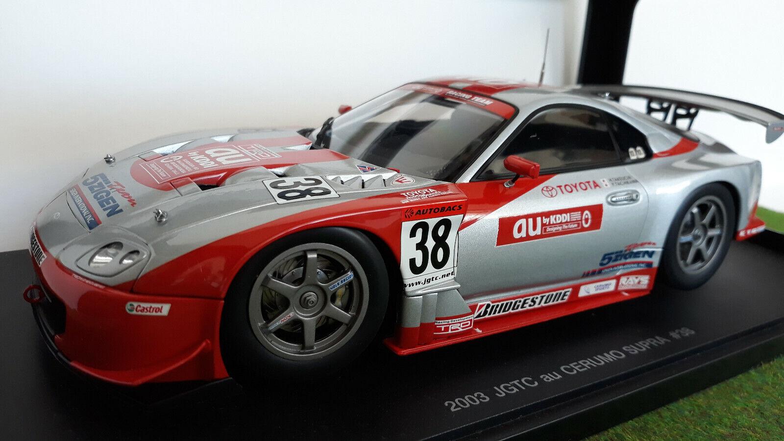 TOYOTA SUPRA JGTC 2003 AU CERUMO    38 1 18 AUTOart 80317 voiture miniature coll.  économiser 35% - 70% de réduction