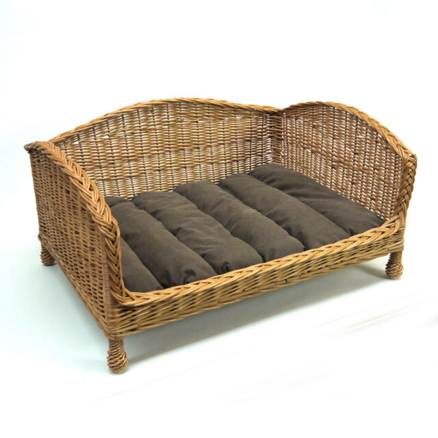 Incredible Wicker Pet Bed Dog Sofa Settee With Cushion Dogs Cats Sleeping Resting Large Andrewgaddart Wooden Chair Designs For Living Room Andrewgaddartcom