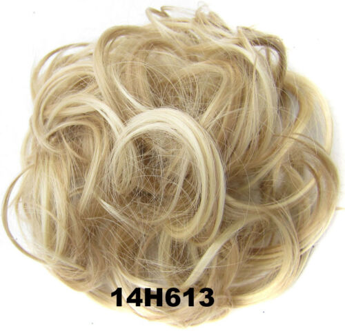 Large Thick Curly Wedding Chignon Messy Bun Updo Fake Hair Pieces Extension