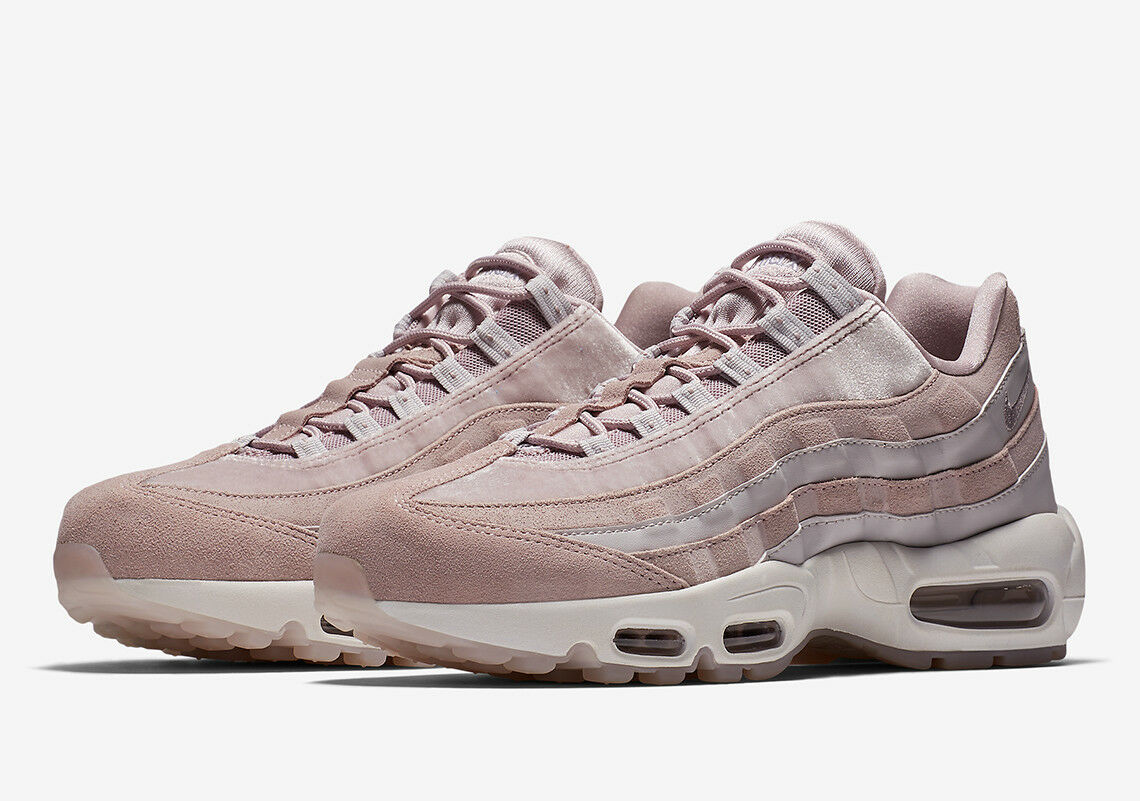 eba199a34e210 ... Women s Nike Air Max 95 PARTICLE ROSE PINK LIGHT LIGHT LIGHT SUEDE  WHITE AA1103-600 ...