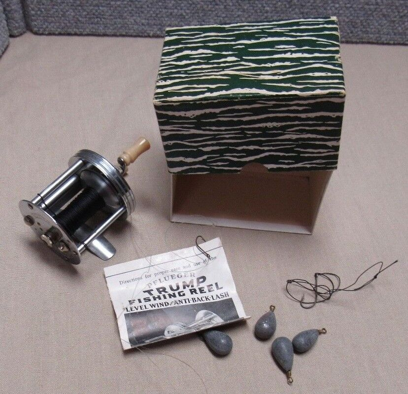 Vintage Pflueger Trump Fishing Reel With Box Directions & More No. 1943