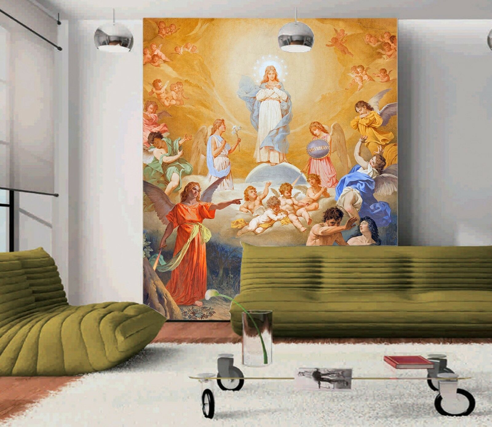 3D Adam And Eve God 4 Wall Paper Wall Print Decal Wall Deco Indoor wall Mural