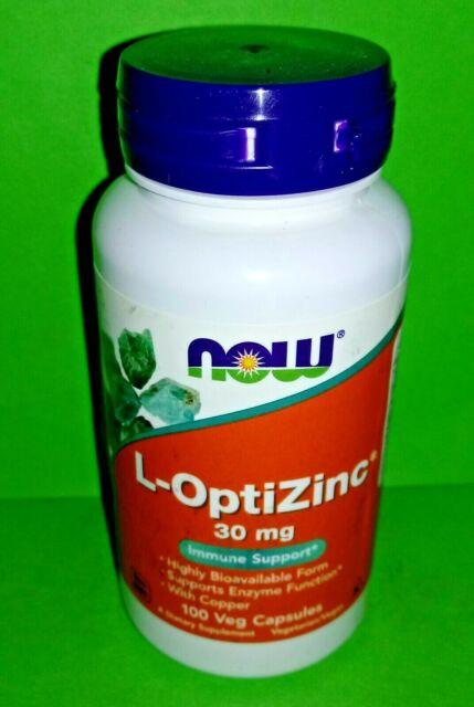 L-OPTIZINC 30mg 100 capsulas Now Foods