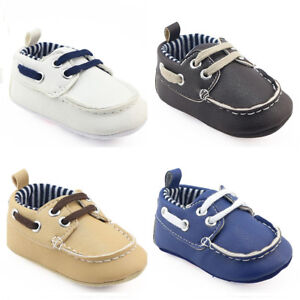 c23b89e08 Faux Leather Casual Shoes Infant Baby Boy Crib Shoes Pre Walker Boat ...