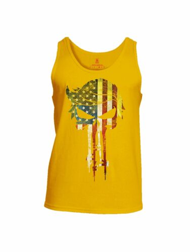 Battleraddle Trump Punisher USA Flag Mens Cotton Tank Top
