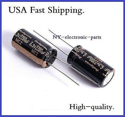 10PCS 2200UF 6.3V SANYO RADIAL ELECTROLYTIC CAPACITORS 6.3v2200uf low ESR
