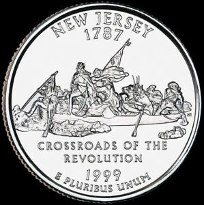 MINT ONE COIN 1999 P NEW JERSEY UNCIRCULATED STATE QUARTER FROM U.S