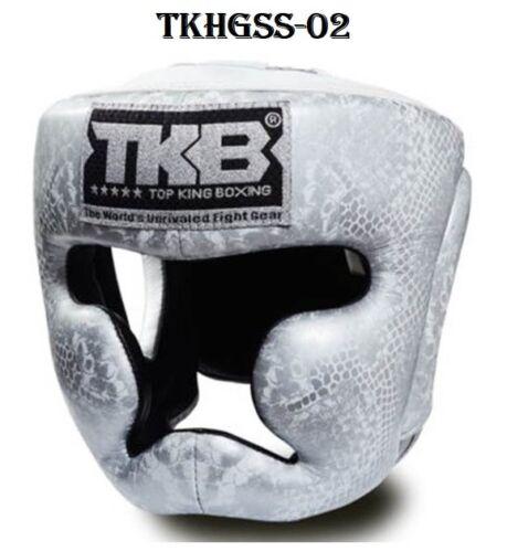 TOP KING HEAD GUARDS TKHGSS-02 SNAKE SKIN PROTECTOR MUAY THAI MMA K1 DHL EXPRESS