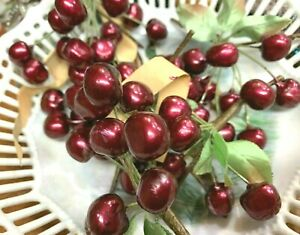 Vintage-Celluloid-Berry-Cherry-Spray-Cluster1040s-1-Bunch-Made-in-Germany