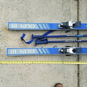 Olin-Mark-III-Vintage-Skis-Scott-Ski-Pole-Rare-Vintage-Blue-USA-Lot-Salomon-S727
