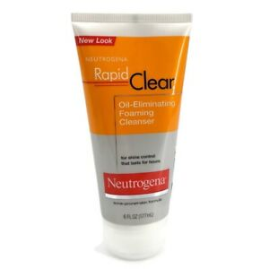 Neutrogena-Rapid-Clear-Oil-Eliminating-Foaming-Cleanser-6oz-Acne-Prone-NEW