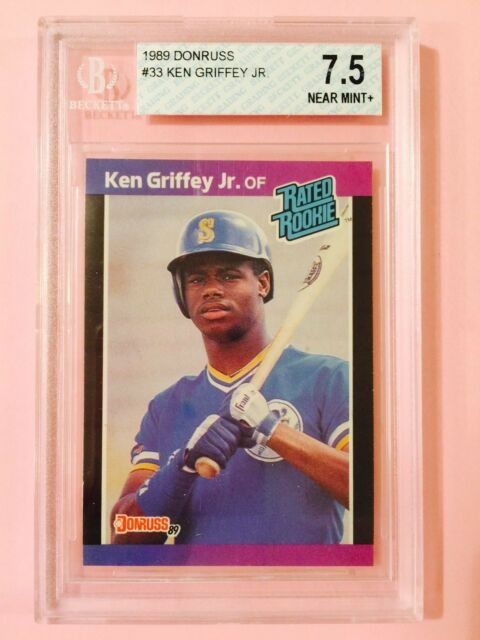 bf6f280cd7 1989 Donruss #33 Ken Griffey Jr. RC Rookie Baseball Card Graded BGS ...