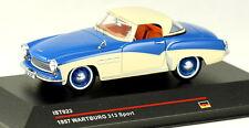 1/43 scale IST Models IST023 Wartburg 313 sport coupe 1957 blue & cream NIB