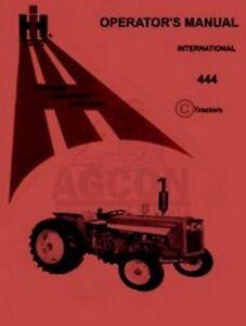 farmall international 444 tractor operators manual ih ebay rh ebay com IH 444 Tractor Specs IH 424 Tractor Decals
