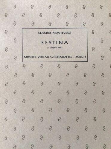 Sestina a cinque voci Claudio Monteverdi