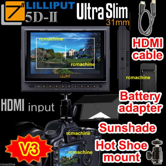 Lilliput 7 5D II 5D2 HDMI Monitor Canon Mark Cable