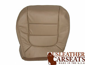 2003 Ford F150 Lariat 2WD Single Cab 4X4 Driver Bottom Leather Seat Cover Tan