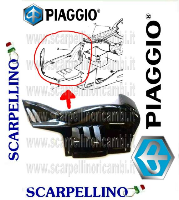 SOTTO PIANALE DESTRO DX NERO APRILIA SPORT CITY CUBE -PIAGGIO 89015300XN5