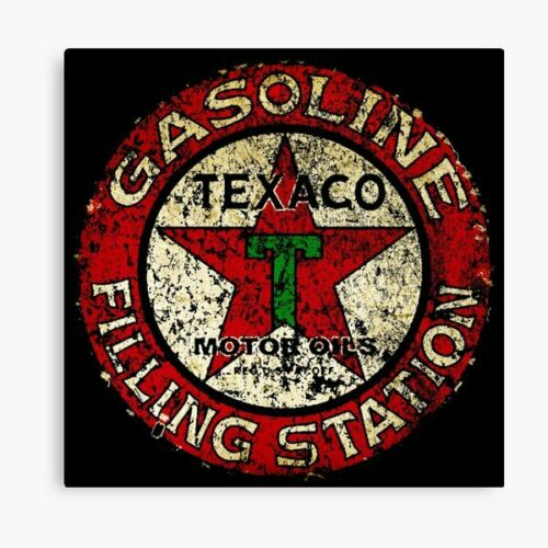 Laminate or Vinyl 12cm x 5cm Free Post TEXACO GASOLINE STICKER Choose Craft