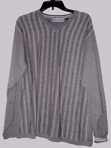 hals strepen met Oscar La trui Renta 100katoen grijswit zwarte Heren Grote v De DE2YWHI9