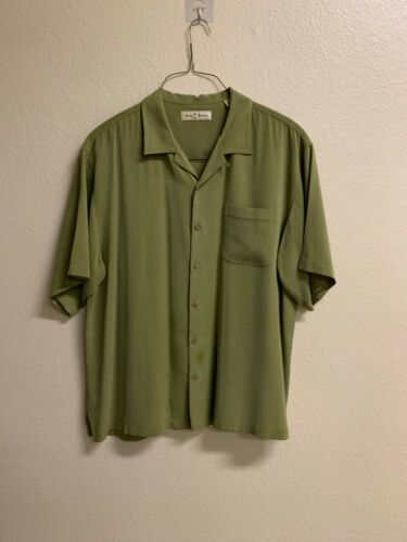 Green Tommy Bahama 100% Silk Shirt - image 1