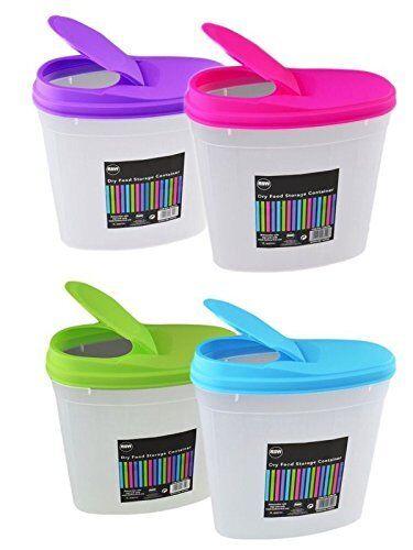 2 X 4.8L Plástico Pet pasta cereales arroz alimento seco Dispensador de contenedor de almacenamiento NUEVA