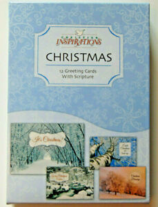 Christian Christmas Cards.Details About Box 12 Christian Christmas Greeting Cards Bible Scripture Inspirational Verse