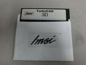 Turbo-CAD-3D-Vintage-PC-5-25-Floppy-Disk-Only-Free-Ship