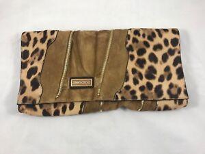 140bee58fde2 Image is loading Jimmy-Choo-Oversized-Martha-Clutch-in-Leopard-Pony-