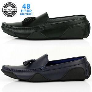 Mens-Casual-Slip-On-Smart-Shoes-Tassel-Loafers-Office-Designer-Dress-Formal