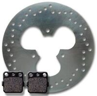 Honda Rear Brake Rotor +pads Trx 250 X Fourtrax (87-92) 300 Ex (93-08) X (09-11)