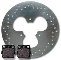 Honda Rear Brake Rotor +pads Trx 250 X Fourtrax (87-92) 300 Ex (93-08) X (09-11)