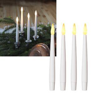 LED Kerzen Stabkerzen Kerze mit Fernbedienung 4er Set batteriebetrieben