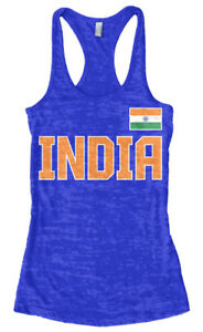b42e94fe2a1ed India National Pride Women s Burnout Racerback Tank Top Indian Team ...