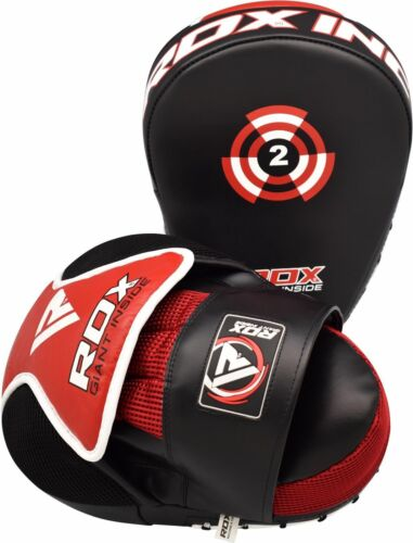 RDX Boxing Focus Pads Hook /& Jab Mitts MMA Punch Bag Curved Kick Thai pads T2R